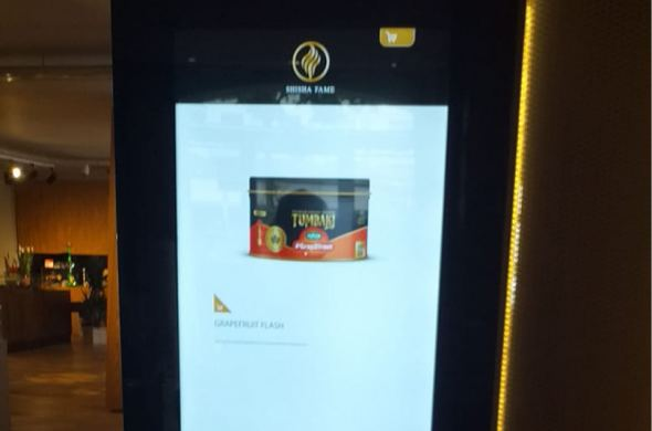Shisha Fame Aachen is the first in its industry with a double-sided order kiosk