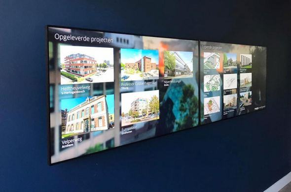 Video wall presentation made with Omnitapps4